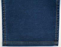 Fundo da sarja de Nimes das calças de brim com pontos Fotos de Stock Royalty Free