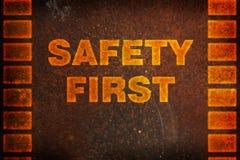 Fundo da segurança em primeiro lugar Fotos de Stock