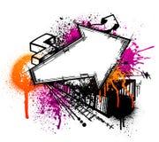 Fundo da seta dos grafittis ilustração royalty free