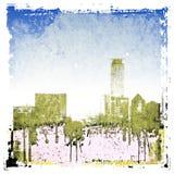 Fundo da skyline da cidade do Grunge Fotos de Stock