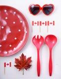 Fundo da tabela do partido de Canadá Foto de Stock