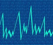 Fundo da tecnologia com código binário Imagens de Stock
