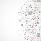 Fundo da tecnologia da cor da rede Fotografia de Stock