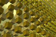 Fundo da tecnologia da parede com cubos 1 Fotografia de Stock