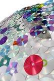 Fundo da tecnologia do CD e do DVD Fotos de Stock Royalty Free