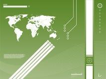 Fundo da tecnologia do mapa Imagens de Stock