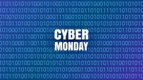 Fundo da tecnologia do sumário de segunda-feira do Cyber Bacalhau binário do computador Imagem de Stock