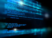 Fundo da tecnologia do sumário do número de código de Digitas Fotos de Stock
