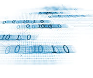 Fundo da tecnologia do sumário do número de código de Digitas Fotos de Stock Royalty Free