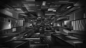Fundo da tecnologia do túnel ilustração stock