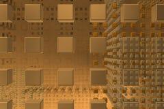 Fundo da tecnologia do tanoeiro com cubos 1 Fotografia de Stock Royalty Free