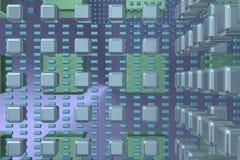 Fundo da tecnologia do tanoeiro com cubos 1 Foto de Stock