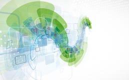 Fundo da tecnologia, ideia da solução do negócio global Foto de Stock