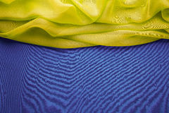 Fundo da tela, beira do título da onda de pano, teste padrão fotografia de stock royalty free