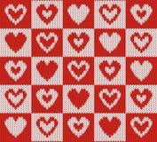 Fundo da tela com corações Imagens de Stock Royalty Free