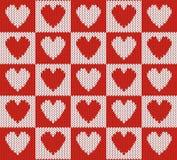 Fundo da tela com corações Fotografia de Stock