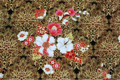 Fundo da tela de pano do Batik Imagens de Stock
