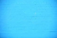 Fundo da textura azul da parede de tijolo Imagens de Stock Royalty Free