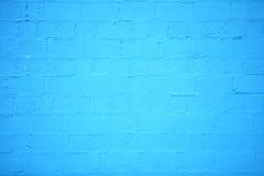 Fundo da textura azul da parede de tijolo Fotografia de Stock