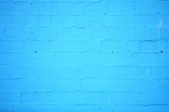 Fundo da textura azul da parede de tijolo Fotos de Stock