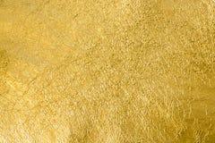 Fundo da textura da folha de ouro Imagem de Stock Royalty Free