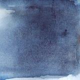 Fundo da textura da listra da água de azuis marinhos da aquarela Fotos de Stock