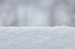 Fundo da textura da neve, grande close up macro horizontal detalhado, Bokeh delicado Imagens de Stock