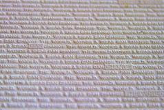 Fundo da textura da palavra, fundo branco fotos de stock royalty free