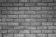 Fundo da textura da parede de tijolo - gráfico preto e branco Imagens de Stock Royalty Free