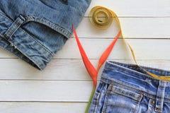 Fundo da textura de calças de ganga, Foto de Stock Royalty Free