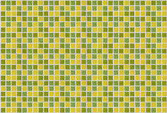 Fundo da textura do amarelo do verde do quadrado do mosaico da telha Fotos de Stock Royalty Free