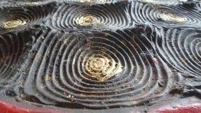 Fundo da textura do círculo de Bronz Fotografia de Stock Royalty Free