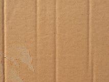 Fundo da textura do cartão ondulado de Brown imagens de stock