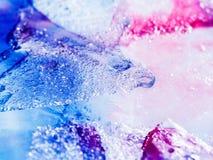 Fundo da textura do gelo com tinta Fotos de Stock Royalty Free
