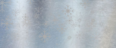 Fundo da textura do metal do azul de gelo com estrela Imagem de Stock Royalty Free