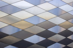 Fundo da textura do metal Teste padrão arquitectónico abstrato Placas de metais coloridas Fotos de Stock Royalty Free