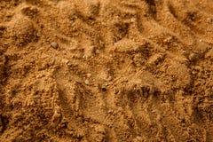 Fundo da textura do solo da areia do mar de Brown Fotos de Stock Royalty Free