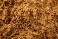 Fundo da textura do solo da areia do mar de Brown Foto de Stock