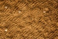 Fundo da textura do solo da areia do mar de Brown Foto de Stock Royalty Free
