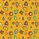 fundo da textura do teste padrão das linhas e das formas ilustração stock