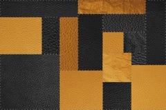 Fundo da textura do teste padrão do remendo do ouro sem emenda, preto e amarelo Fotos de Stock