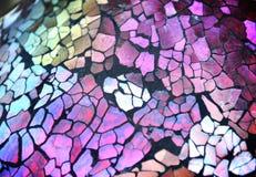 Fundo da textura do vidro de corte de Brocken Imagens de Stock