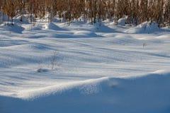 Fundo da textura fresca da neve no tom azul Fim acima da vista natural imagens de stock