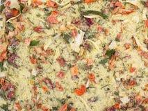 Fundo da textura Mistura amarela da especiaria Imagens de Stock Royalty Free