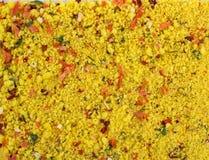 Fundo da textura Mistura amarela da especiaria Foto de Stock Royalty Free