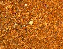Fundo da textura Mistura amarela da especiaria para a carne imagens de stock royalty free