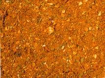 Fundo da textura Mistura amarela da especiaria para a galinha Imagem de Stock