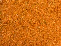 Fundo da textura Mistura amarela da especiaria para a galinha Foto de Stock Royalty Free