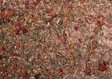 Fundo da textura Mistura da especiaria dos temperos da pizza foto de stock