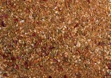 Fundo da textura Mistura vermelha da especiaria da grade fotografia de stock